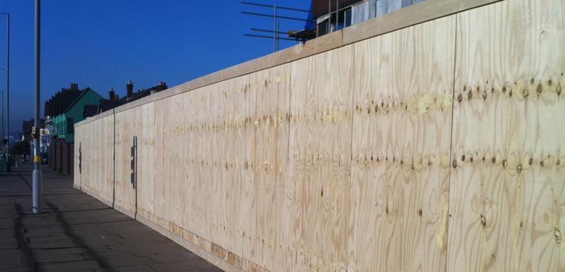 Timber hoarding installation Birmingham